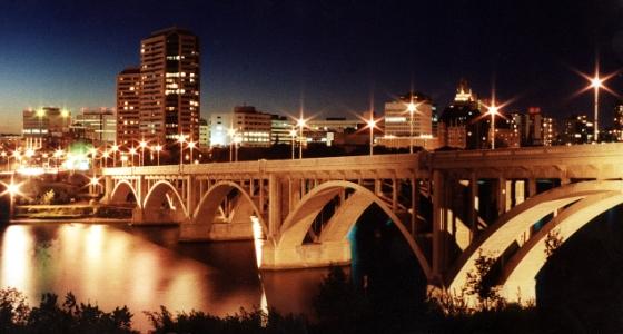 Saskatoon, Canada City Guide Saskatoon Skyline Night