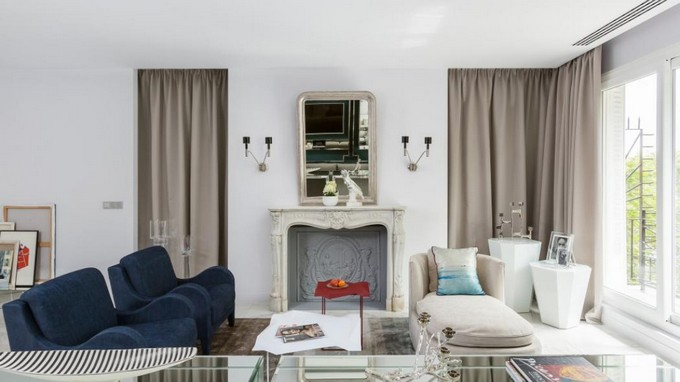 modern apartment Delight Yourself With this Astonishing Modern Apartment in Paris 132454 livingroom 4