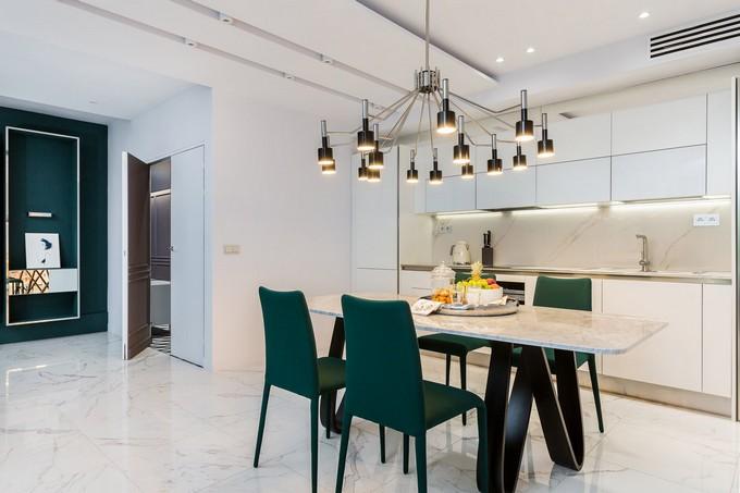astonishing modern apartment modern apartment Delight Yourself With this Astonishing Modern Apartment in Paris DinningRoom 1 1 1