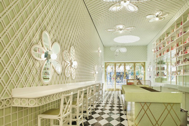 India Mahdavi India Mahdavi The New Ladurée Patisserie and Café in Beverly Hills by India Mahdavi India Mahdavi 2