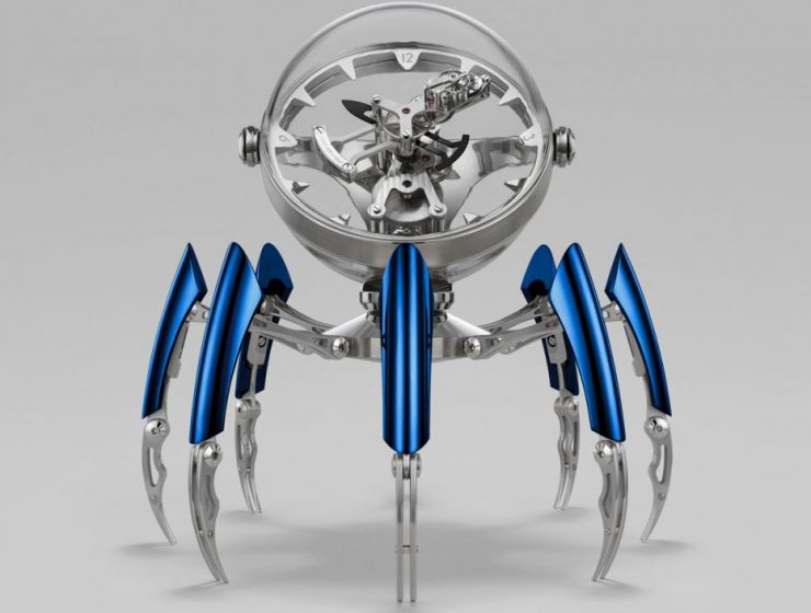octopod The Wow Effect: Limited Edition Octopod Table Clock by MB&F Octopod Face Blue preview 1170x705 740x560