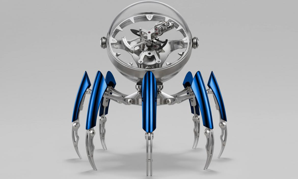octopod The Wow Effect: Limited Edition Octopod Table Clock by MB&F Octopod Face Blue preview 1170x705