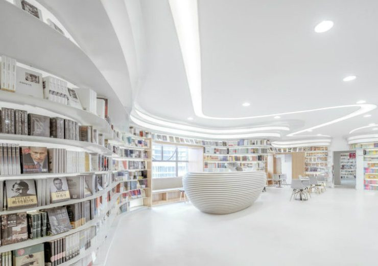 Minimalist Bookstore A Minimalist Bookstore In China Lets Books Add The Colour feat 2 740x520