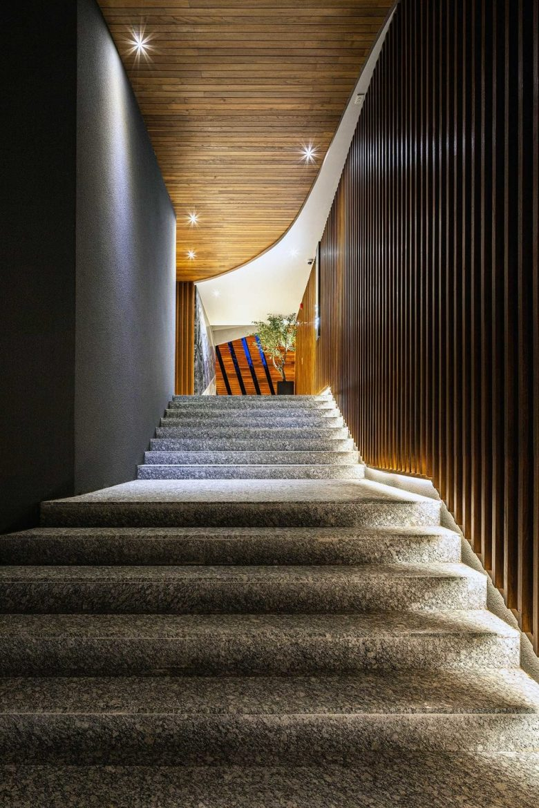best hospitality project in asia Shortlist of The Best Hospitality Project in Asia | Resorts 2020 Stairway that connect the lobby to the villas scaled