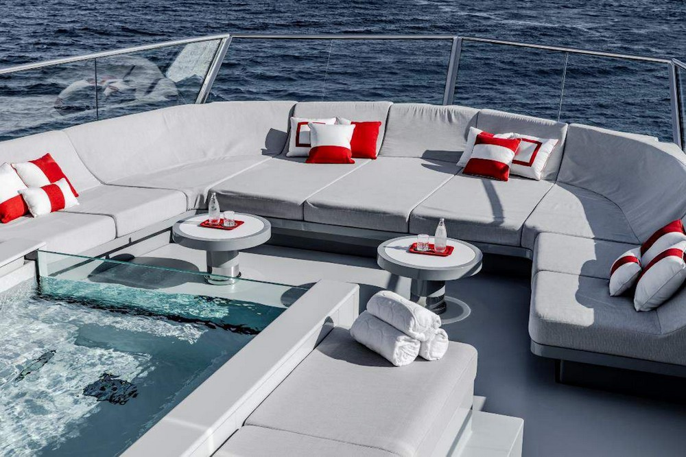 Miami Yacht Show miami yacht show Miami Yacht Show | The Luxury yachting show is Here! February 13-17, 2020 sun deck jacuzzi and seating
